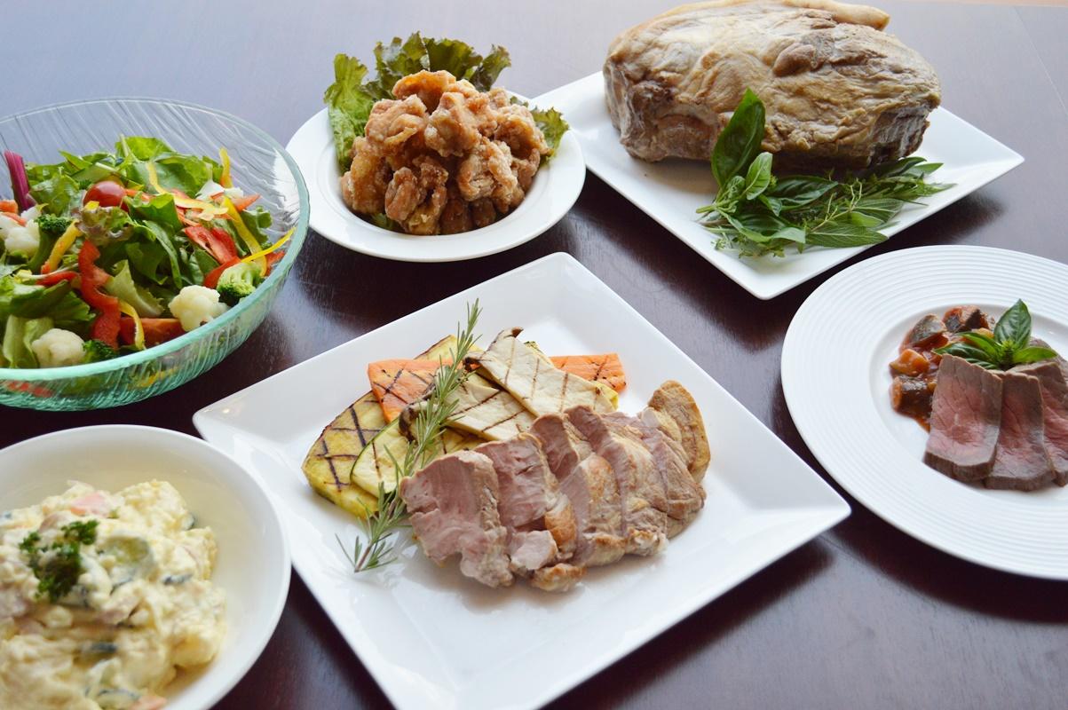 がっつりお肉と野菜のコース